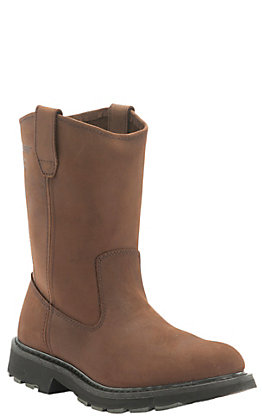 Wolverine Men's Brown Slip Resistant 10in Wellington Work Boot