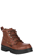 Wolverine Men's Brown Moc Toe Steel Toe Chukka