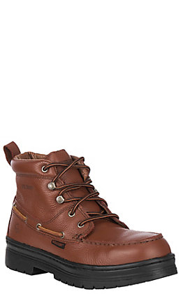 Wolverine Men's Chukka Brown Moc Steel Toe Lace Up Work Boots