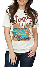 Women's Wander West Natural Short Sleeve T-Shirt