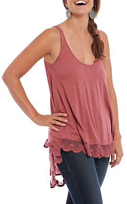 Angie Women's Rose Lace Fashion Tank