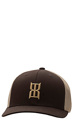 BEX Brown Logo Khaki Mesh Back Cap