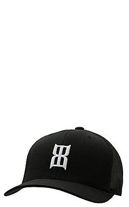 BEX Black with White Icon Logo Mesh Back Cap
