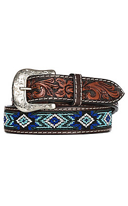 Twisted X Beaded Blues Western Fashion Belt