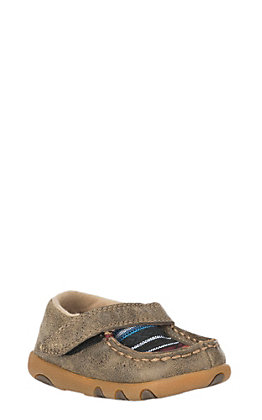 Twisted X Infant Brown Bomber with Serape Inlay & Velcro Closure Casual Shoe
