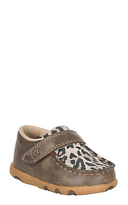 Twisted X Infant Bomber with Leopard Velcro Casual Shoe