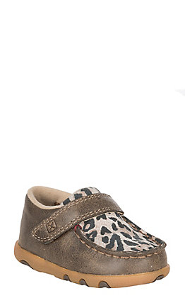 Twisted X Toddler Bomber with Leopard Velcro Casual Shoe