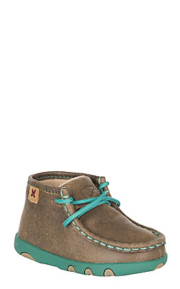 67e44633e Twisted X Infant Bomber with Turquoise Laces & Sole Casual Shoe