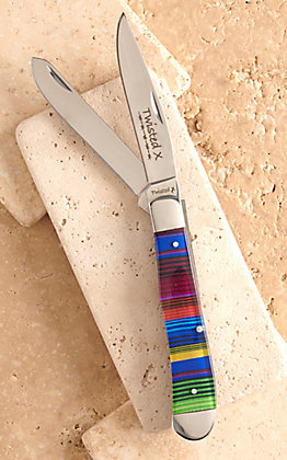 Twisted X Acrylic Serape Print Large Trapper Knife