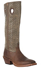 Twisted X Men's Bomber Brown Distressed Buckaroo Western Square Toe Boot