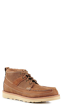 Twisted X Men's Oiled Saddle Crepe Wedge Lacer Casual Shoe