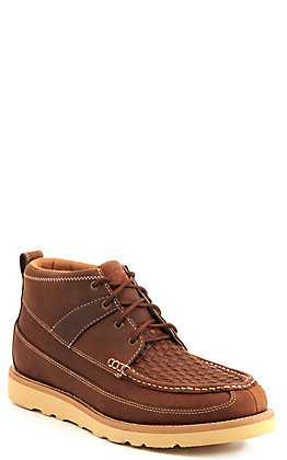 Twisted X Men's Brown Woven Crepe Wedge Lacer Casual Shoes