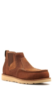 Moc Toe Safety Boots Made with CellSole Comfort Technology Twisted X Mens 4-Inch Nano Toe Chelsea Work Wedge Sole Boot