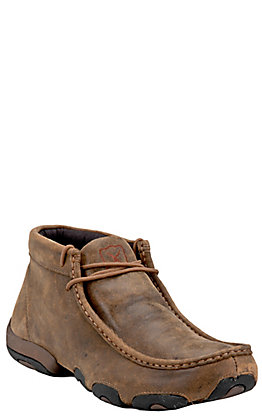 Twisted X Men's Brown Bomber Driving Moccasin Lace Up Casual Shoes