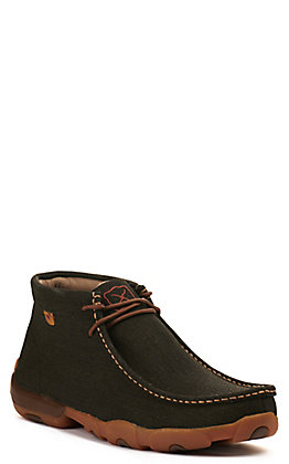Twisted X Men's Brown Black Moc Toe Chukka Driving Lace Up Casual Shoe
