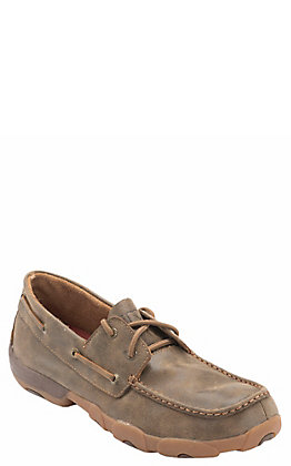 Twisted X Men's Bomber Brown Boat Shoe
