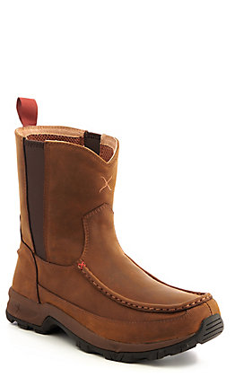 Twisted X Men's Distressed Saddle Brown Hiker Boots