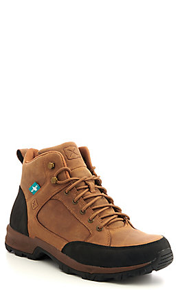 Twisted X Men's Tan Waterproof Lace Up Hiker Boots