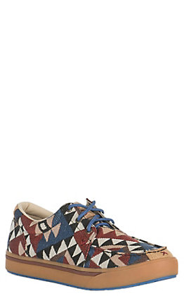 Twisted X HOOey Men's Aztec Print Canvas Casual Shoes