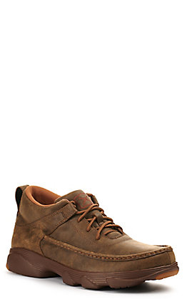 Twisted X Men's Bomber Brown Crossover Lace Up Outdoor Chukka Shoe
