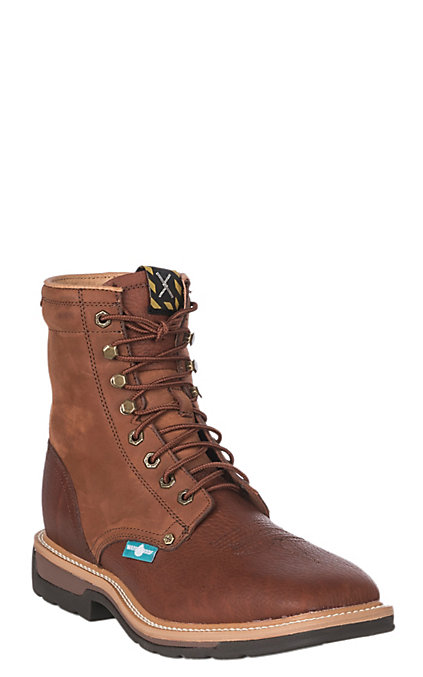 97443807c33 Twisted X Lite Cowboy Men's Rust and Brown Wide Square Steel Toe 8