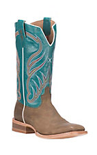 Twisted X Men's Brown with Turquoise Upper Western Square Toe Boots