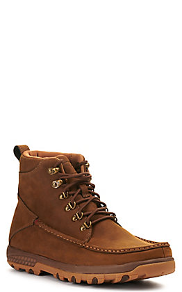 Twisted X Men's Distressed Saddle Brown Hiker Lace Up Casual Shoes