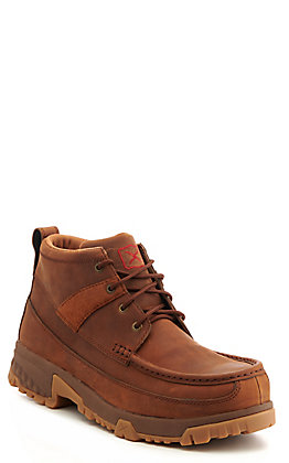 Twisted X Men's Brown Leather with CellStretch Composite Toe Lace Up Work Boot