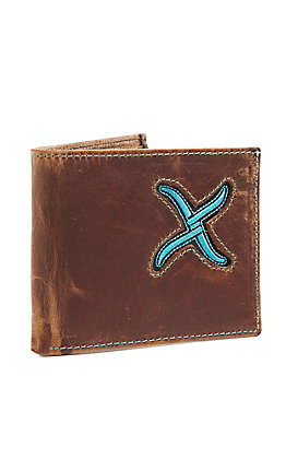 Twisted X Men's Turquoise Inlay Bi-Fold Wallet