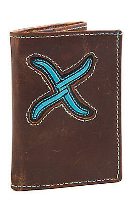 Twisted X Men's Turquoise Tri-Fold Wallet