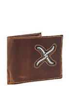 Twisted X Men's White Inlay Bi-Fold Wallet