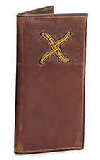 Twisted X Men's Brown with Gold Inlay Rodeo Wallet