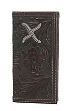 Twisted X Men's Brown Embossed with Silver Embroidered Logo Wallet
