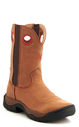 Twisted X Women's Brown All Around Round Toe Work Boot