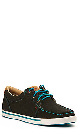 Twisted X Women's Kicks Charcoal and Turquoise Lace Up Sneakers Casual Shoe