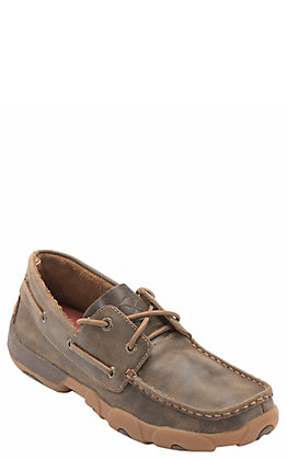 Twisted X Women's Bomber Brown Boat Shoes