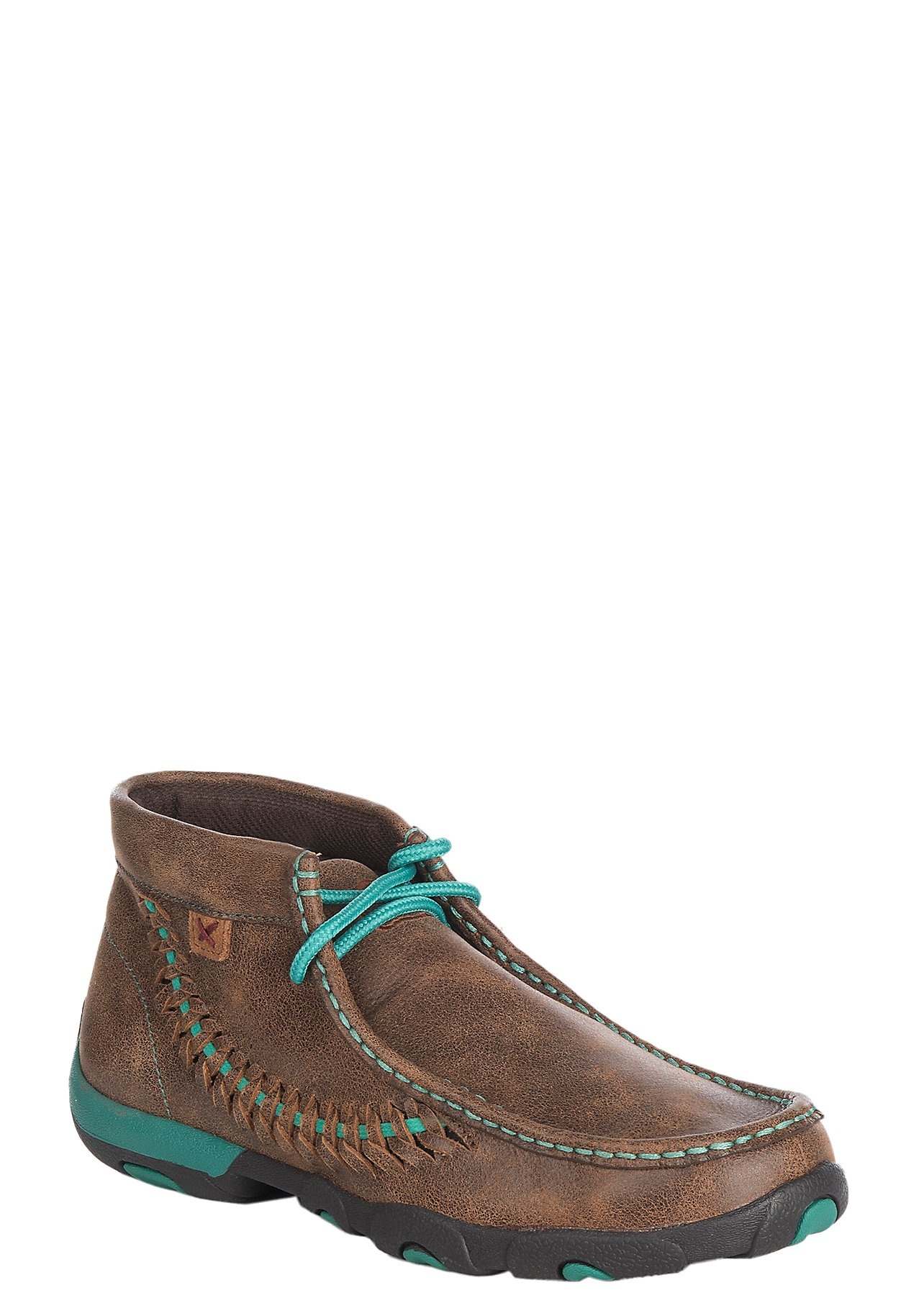 Twisted X Boots · Twisted X Women's Brown w/ Turquoise Driving Moccasin  Casual Shoes