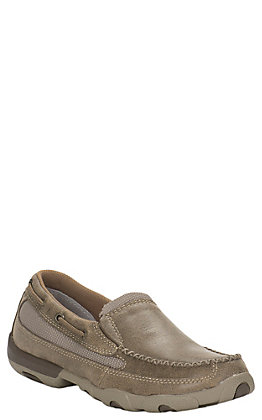 Twisted X Women's Bomber Brown Driving Moccasin Slip On Casual Shoes