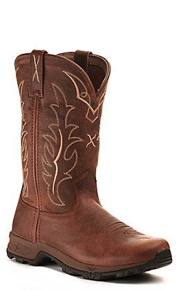 Twisted X Women's All Around Distressed Rust Round Toe Boot