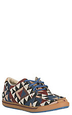 Twisted X HOOey Women's Aztec Print Canvas Casual Shoes