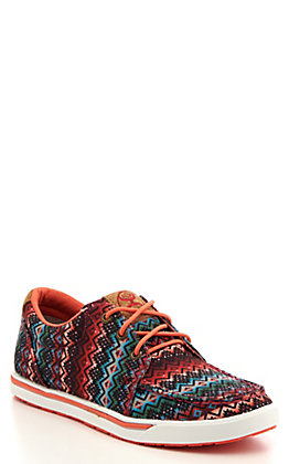 Twisted X Women's HOOey Coral and Nazy Aztec Print Sneakers Casual Shoes