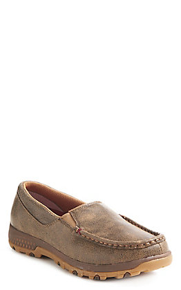 Twisted X Women's Cell Stretch Brown Slip On Shoe