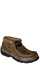 Twisted X Youth Bomber Brown Driving Moccasin Lace Up Casual Shoes