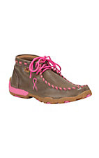 Twisted X Tough Enough To Wear Pink Youth Bomber Brown Driving Moccasin Casual Shoes