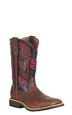 Twisted X HOOey Youth Tan with Black and Red Western Square Toe Boot