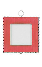 The Round Top Collection Red with Pie Crust Tin Photo Frame