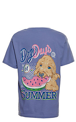 Girlie Girl Originals Girls' Violet Dog Days of Summer Short Sleeve T-Shirt