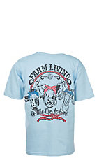 Lilly Paige Girl's Light Blue Farm Living S/S T-Shirt