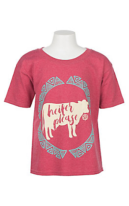Lilly Paige Girls' Red Heifer Please Graphic T Shirt by B.Jaxx