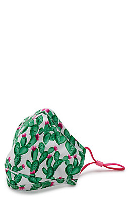 Kids' Cactus Cloth Face Mask with Filter